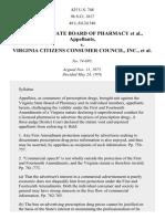 Va. Pharmacy Bd. v. Va. Consumer Council, 425 U.S. 748 (1976)