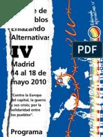 Programa Cumbre de Los Pueblos Enlazando Alternativas IV