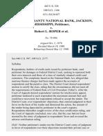 Deposit Guaranty Nat. Bank v. Roper, 445 U.S. 326 (1980)