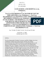 Pennhurst State School and Hospital v. Halderman, 451 U.S. 1 (1981)