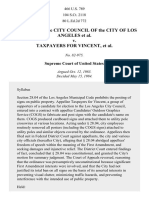 Members of City Council of Los Angeles v. Taxpayers for Vincent, 466 U.S. 789 (1984)