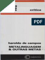 Metalinguagem Outras Metas Haroldo de Campos 1992