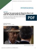 'Tarifaço' Faz Aprovação de Mauricio Macri Cair Mais de 10 Pontos Desde Dezembro _ Internacional _ EL PAÍS Brasil