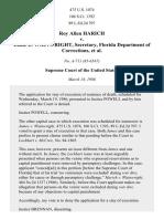 Roy Allen Harich v. Louie L. Wainwright, Secretary, Florida Department of Corrections, 475 U.S. 1074 (1986)