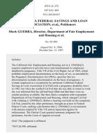 California Fed. Sav. & Loan Assn. v. Guerra, 479 U.S. 272 (1987)