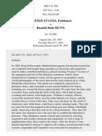 United States v. Dunn, 480 U.S. 294 (1987)