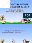Anti Cattle Rustling