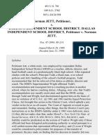 Jett v. Dallas Independent School Dist., 491 U.S. 701 (1989)