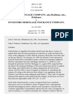 FirsTier Mtge. Co. v. Investors Mtge. Ins. Co., 498 U.S. 269 (1991)