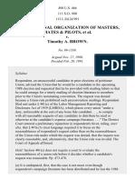 Masters, Mates & Pilots v. Brown, 498 U.S. 466 (1991)