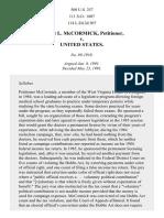 McCormick v. United States, 500 U.S. 257 (1991)