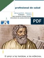 Etica Profesional de Salud 2016