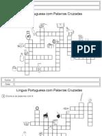 Lingua Portuguesa - Palavras Cruzadas