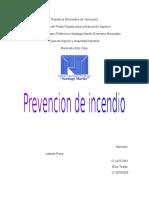 prevención de incendio