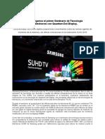 SEMINARIO DE TECNOLOGÍA SOBRE TELEVISORES - SAMSUNG