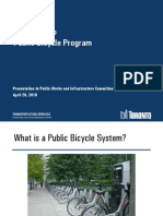 "Proposal for ""Bixi""-Style Bike Sharing Program in Toronto"