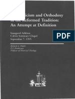 Muller - Scholasticism and Orthodoxy in the Reformed Tradition_An Attempt at Definition (1995)