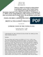 FDA v. Brown & Williamson Tobacco Corp., 529 U.S. 120 (2000)