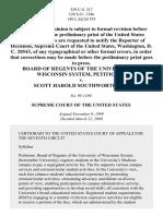 Board of Regents of the University of Wisconsin System v. Scott Harold Southworth, 98-1189 (2000)