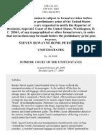 Bond v. United States, 529 U.S. 334 (2000)