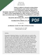 TrafFix Devices, Inc. v. Marketing Displays, Inc., 532 U.S. 23 (2001)