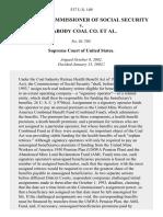 Barnhart v. Peabody Coal Co., 537 U.S. 149 (2003)