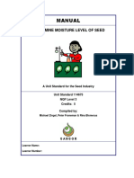15 Determine Moisture of Seed Learner Manual