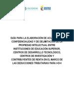 COLCIENCIAS - Guía Elaboración Acuerdos Confidencialidad / Delimitación Propiedad Intelectual