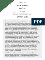Price, Warden v. Vincent, 538 U.S. 634 (2003)