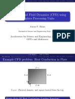 Computational Fluid Dynamics Using Graphics Processing Units