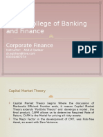 Capital Market Theory and CAPM