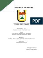 Importancia y Evaluacion de La Calidad de Los Proveedores de Materias Primas