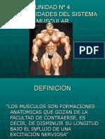 Inst. Quirúrgica - 1º Año - Anatomía - Unidad Nº4 - Generalidades Del Sistema Muscular