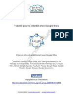 Tutoriel pour la creation d'un site web Google sites