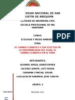 Efectos Del Cambio Climatico Sobre El Ciclo Hidrologico
