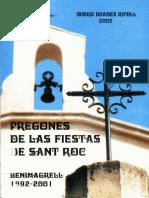 Pregones de las Fiestas de Sant Roc