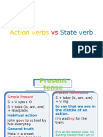 Action Verbs vs State Verb
