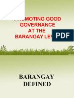 UBAS Promoting Good Governance at the Barangay Level - To Be Discussed by DILG Caloocan.