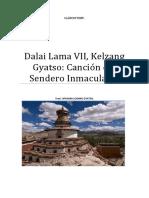 Dalai Lama VII Kelzang Gyatso Canción Del Sendero Inmaculado.