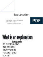 Explanation Presentation
