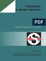 Interpréter Les Temps Verbaux - Peter Lang