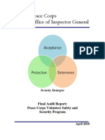 Peace Corps Volunteer Safety and Security Program Final Audit Report  |  April 2010  |  IG1008A