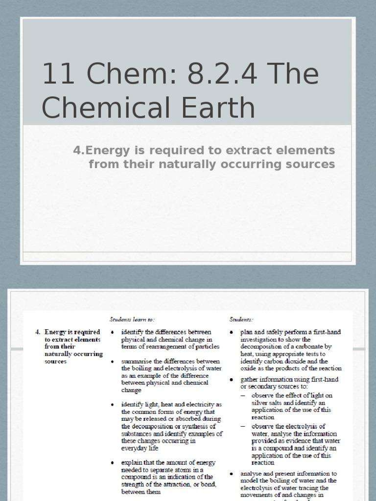 11 Chem 824 Chemical Substances Oxide