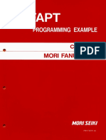 FAPT Programming Example Mori Seiki Fanuc 15TF (FM-F15TF-1E)