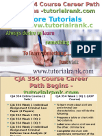 CJA 354 Course Career Path Begins Tutorialrank.com