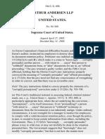 Arthur Andersen LLP v. United States, 544 U.S. 696 (2005)