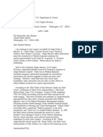 US Department of Justice Civil Rights Division - Letter - tal752