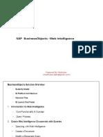 SAP BO WEBI Presentation