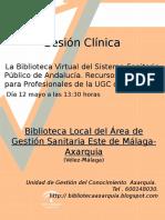 Sesión Clinica UGC Urgencias 12 Mayo UGC COLMENAR