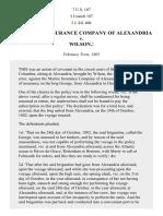 The Marine Insurance Company of Alexandria v. Wilson., 7 U.S. 187 (1805)
